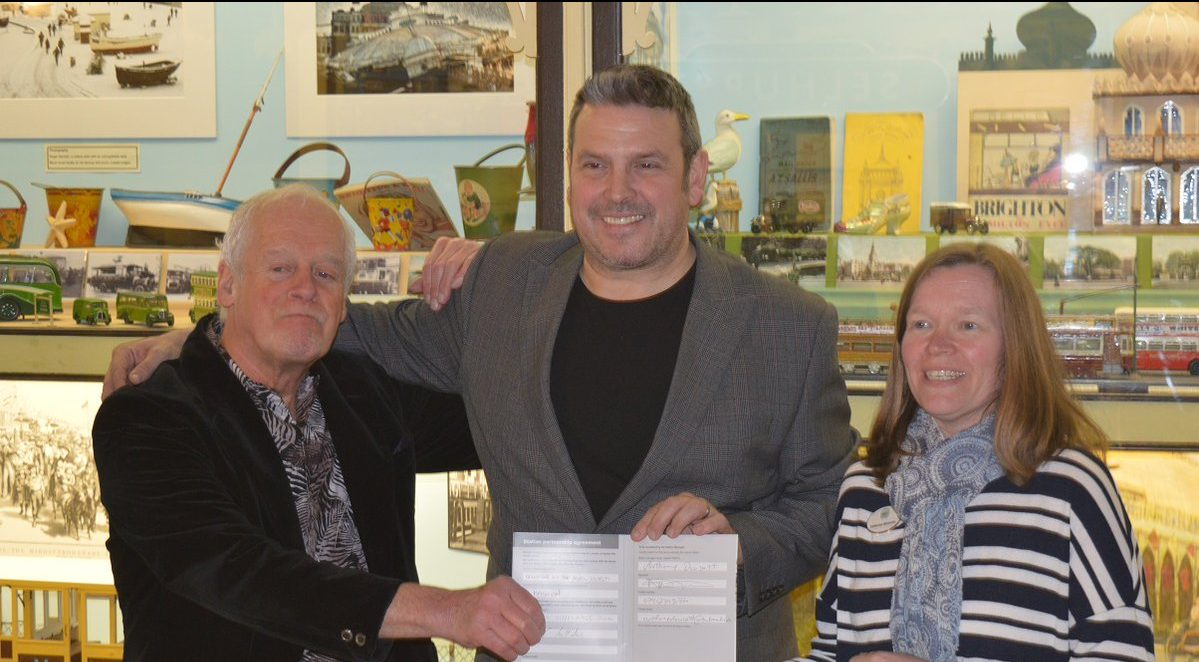 This is the partnership signing of Brighton Toy Museum and the station