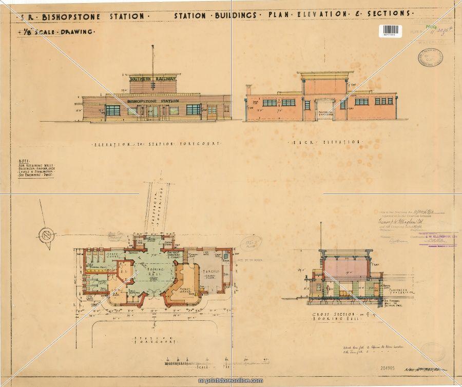 Bishopstone station original blueprint