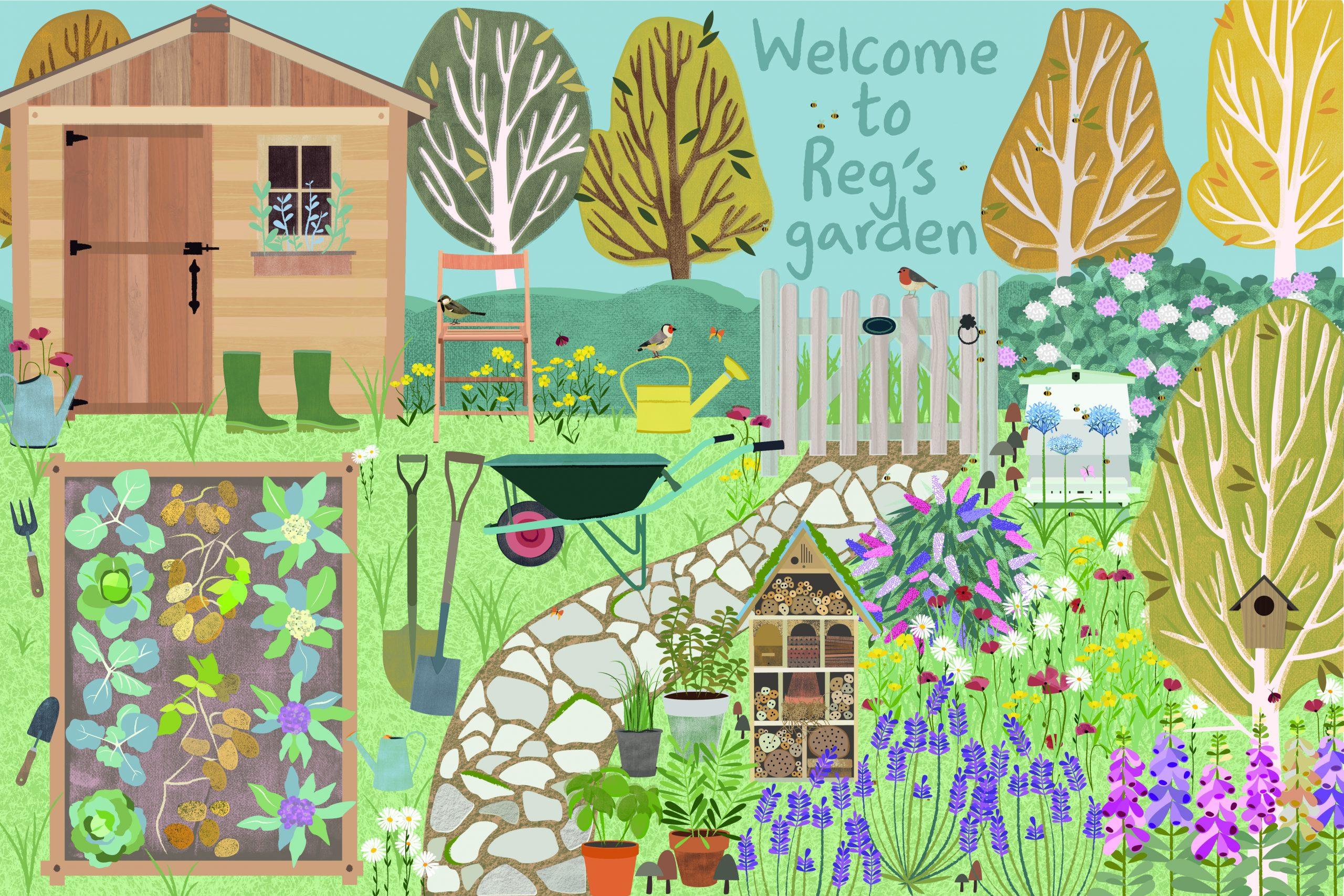 Reg's garden gate banner