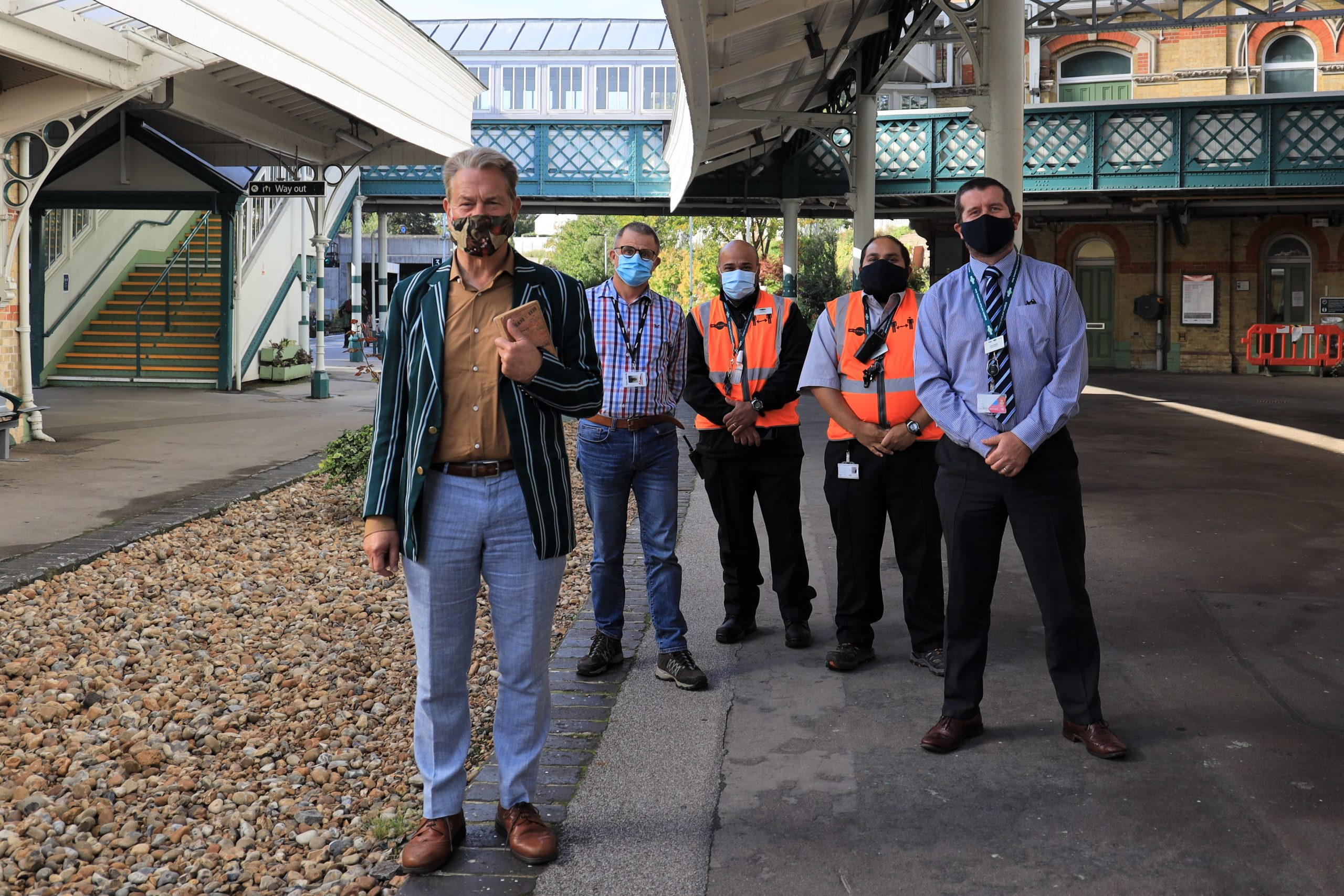 A fellow train enthusiast meets Lewes Station staff…
