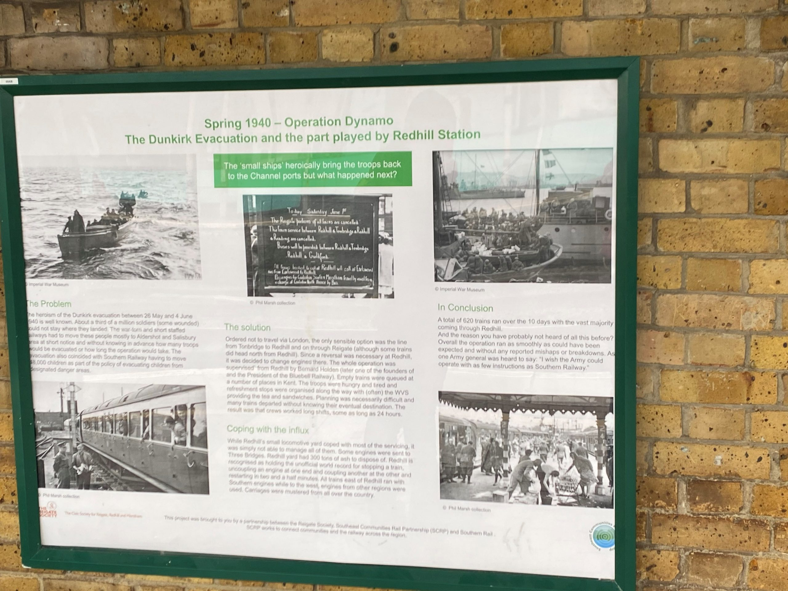 A fascinating history project is on display at Redhill Station