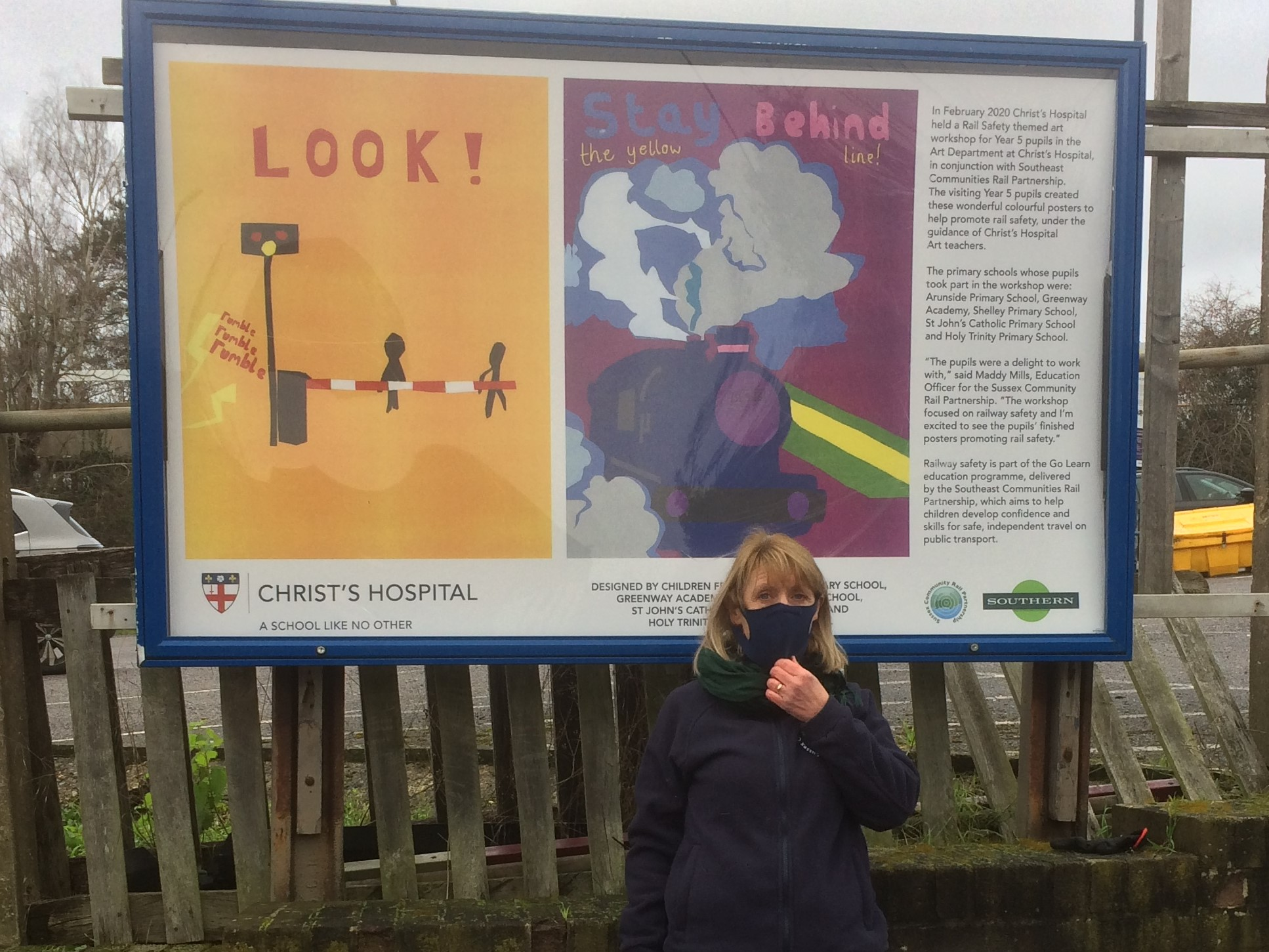 Rail Safety Initiative - posters at Pulborough