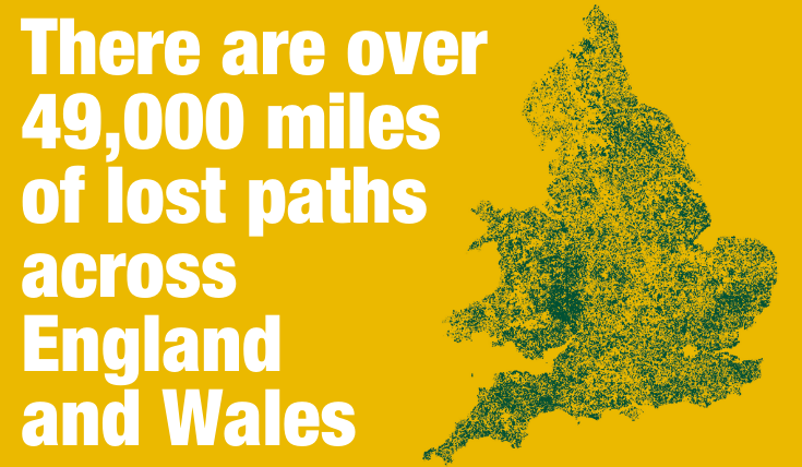Campaign to re-map lost pathways