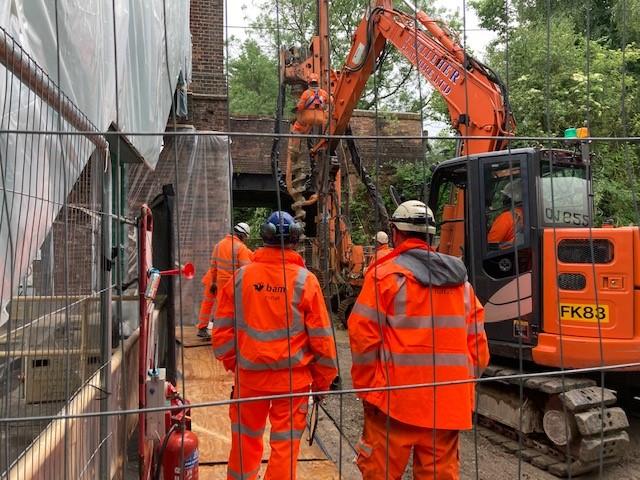 Eridge station lift installation