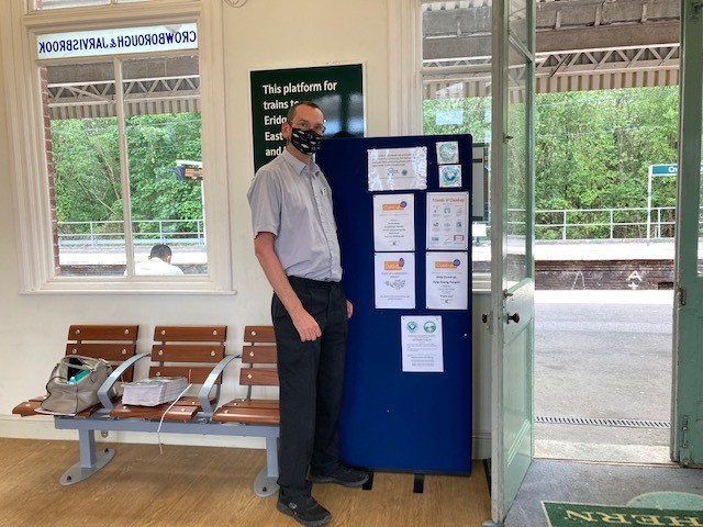 Crowborough station working to support the community
