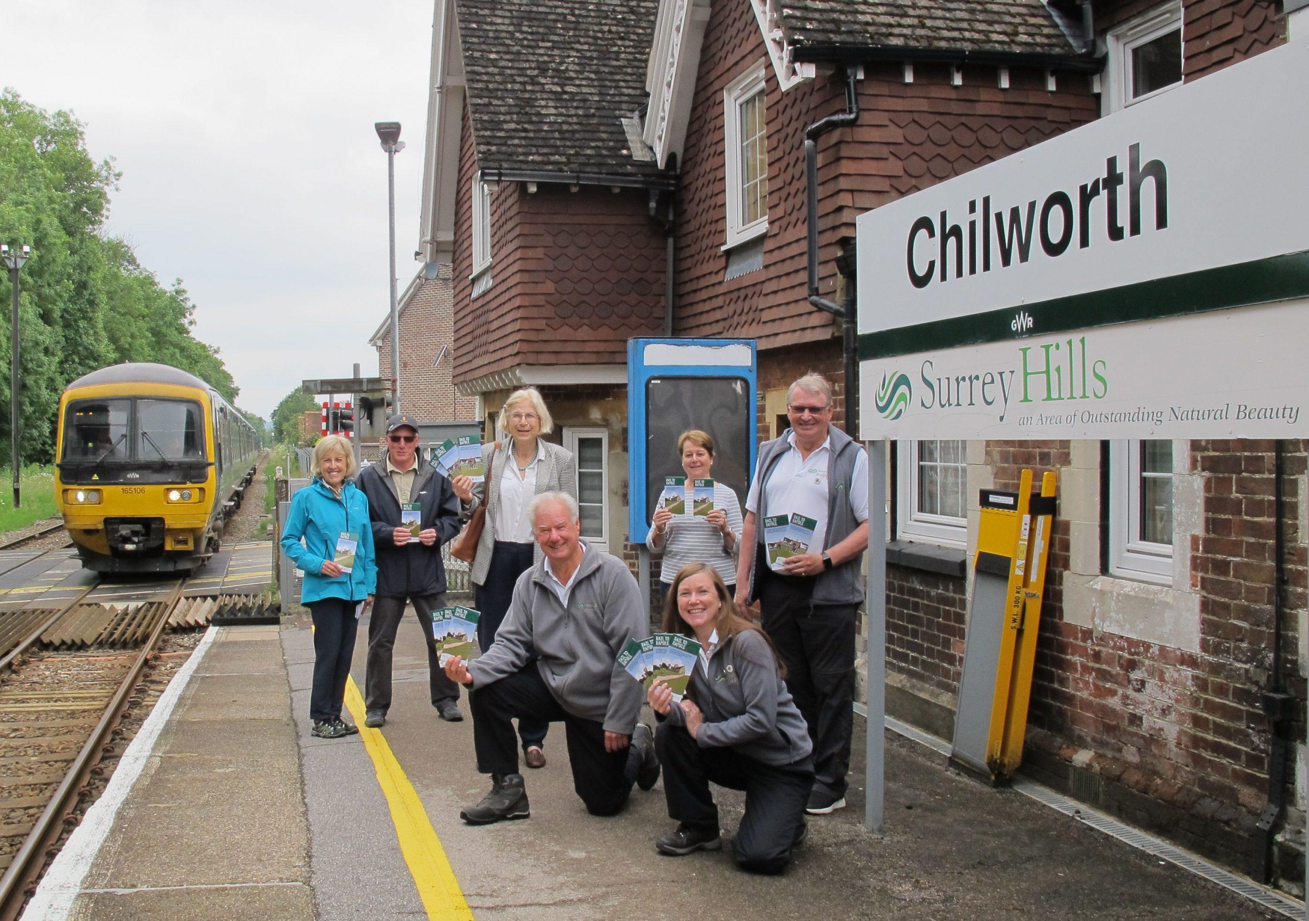 Rail to Ramble launch in Surrey Hills
