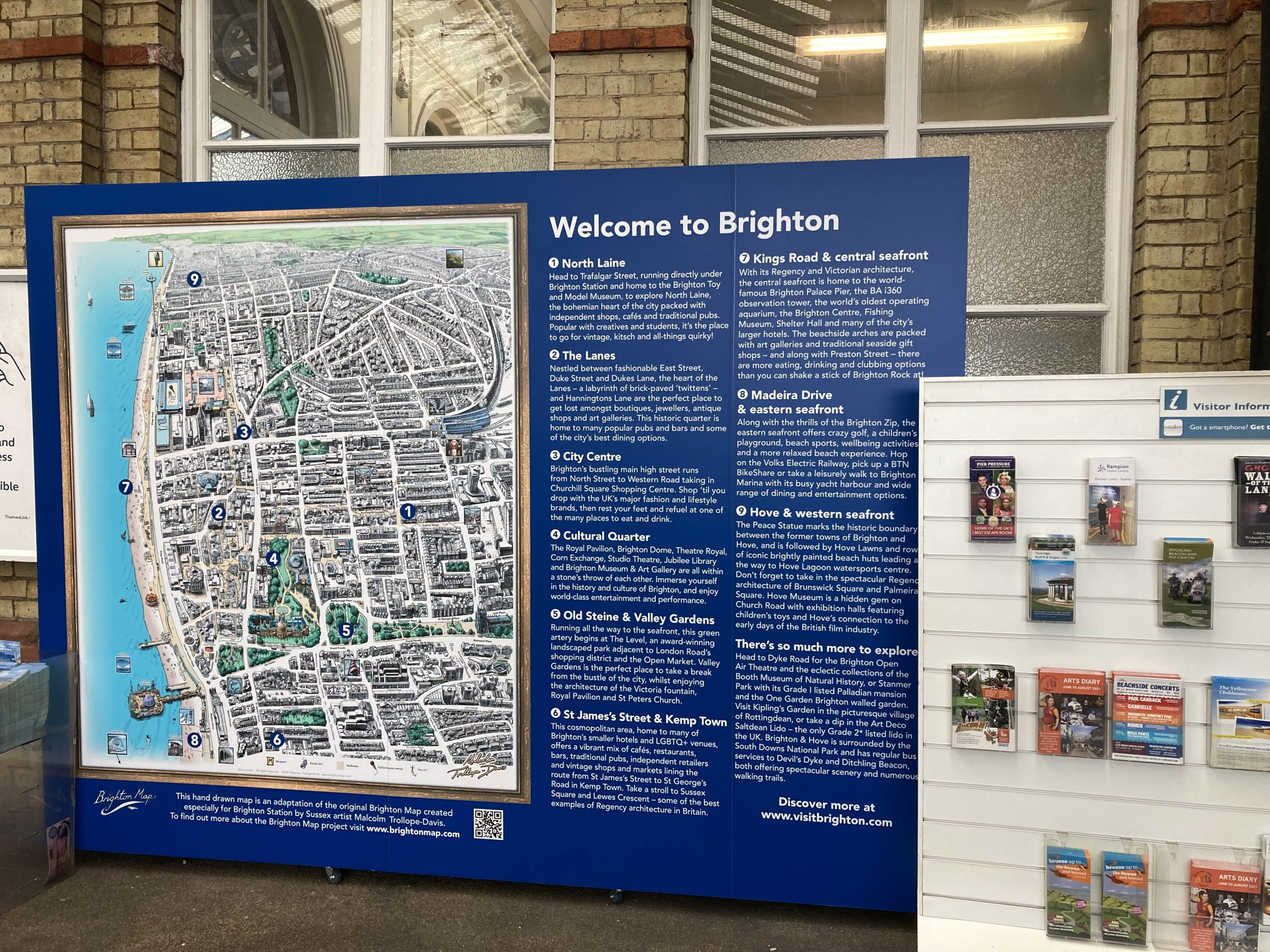 New visitor information at Brighton
