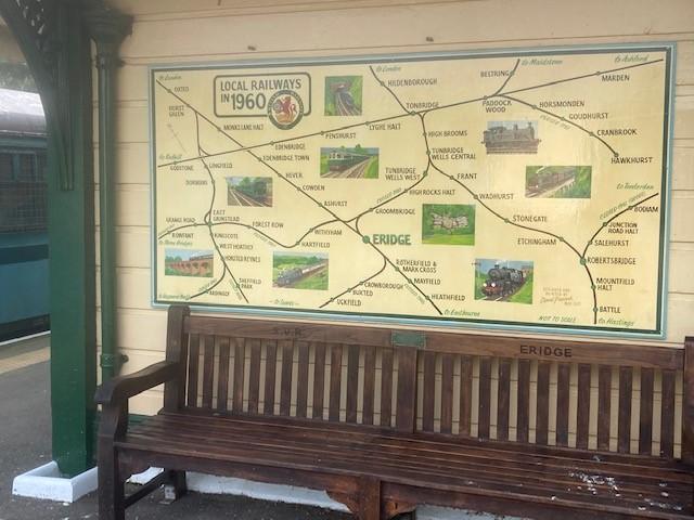 Spa Valley Railway art installation